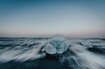 ice on a beach