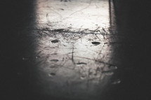 scratched steel background