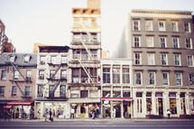 city street of buildings