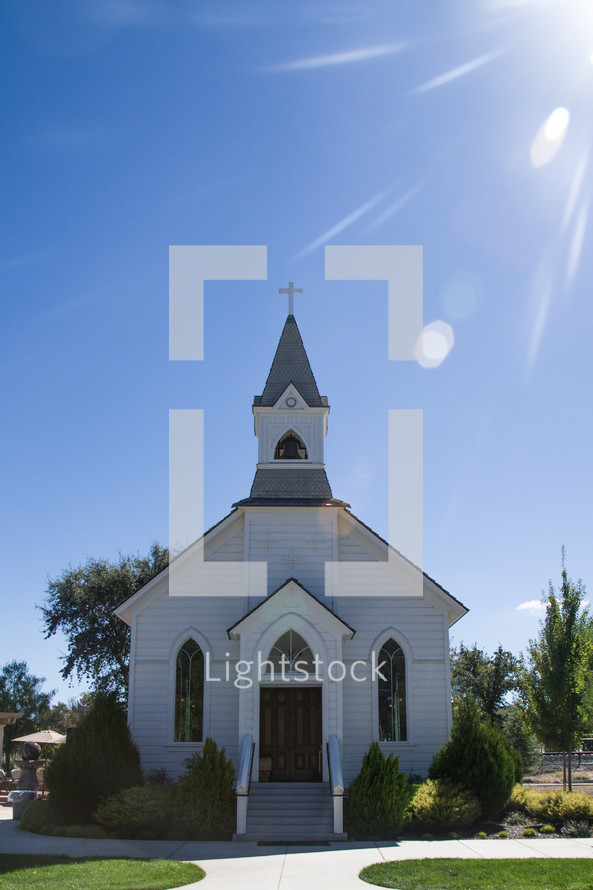 white church with a steeple