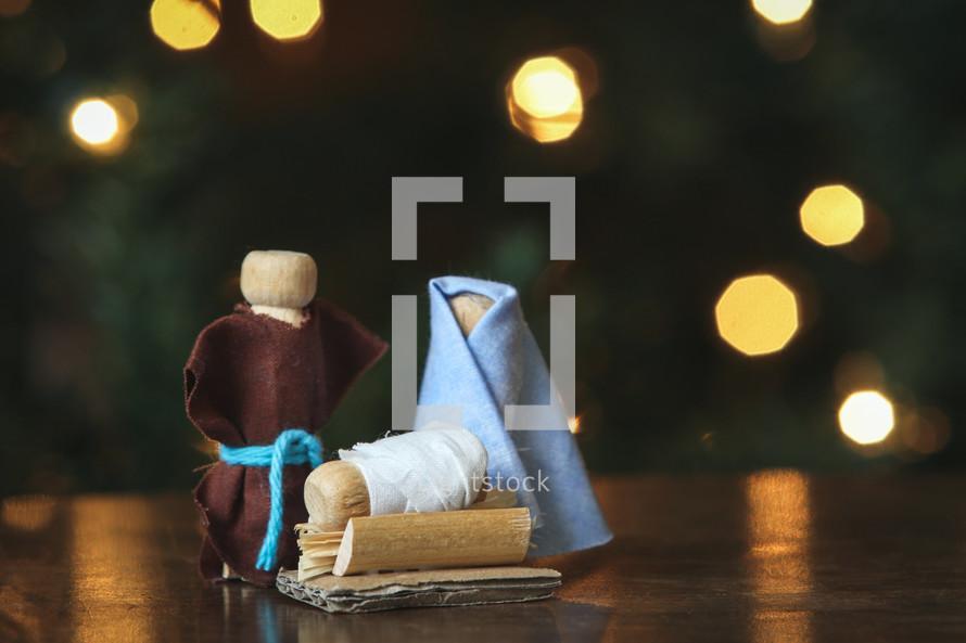 handmade nativity figurines
