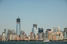 The skyline of New York City