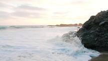 tide on a beach