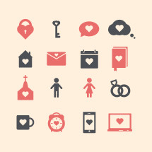 love icons set.
