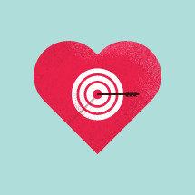 bullseye on a heart