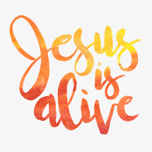 Vector Easter watercolor lettering