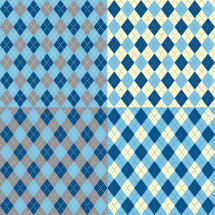 argyle blue pattern
