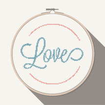 Love in cross stitch