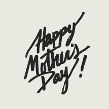 hand drawn happy mother's day typography.