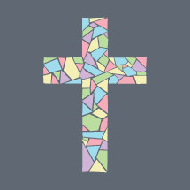 mosaic pastel cross