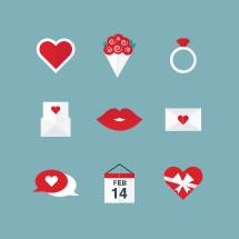 Valentines day icon set