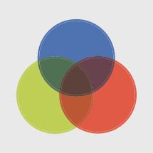 trinity diagram colored circles