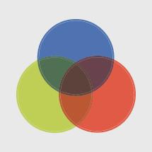 trinity diagram colored circles