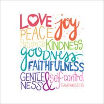 Fruit of the Spirt, gentleness, self-control, Galatians 5:22-23, verse, Bible, goodness, faithfulness, joy, love, kindness, patience, peace