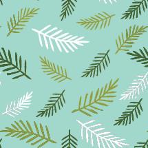 Palm frond pattern