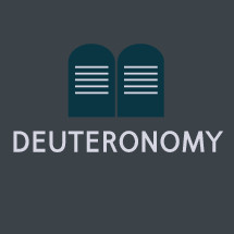 Deuteronomy icon with 10 commandments on tablets