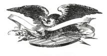 eagle, shield, banner, icon