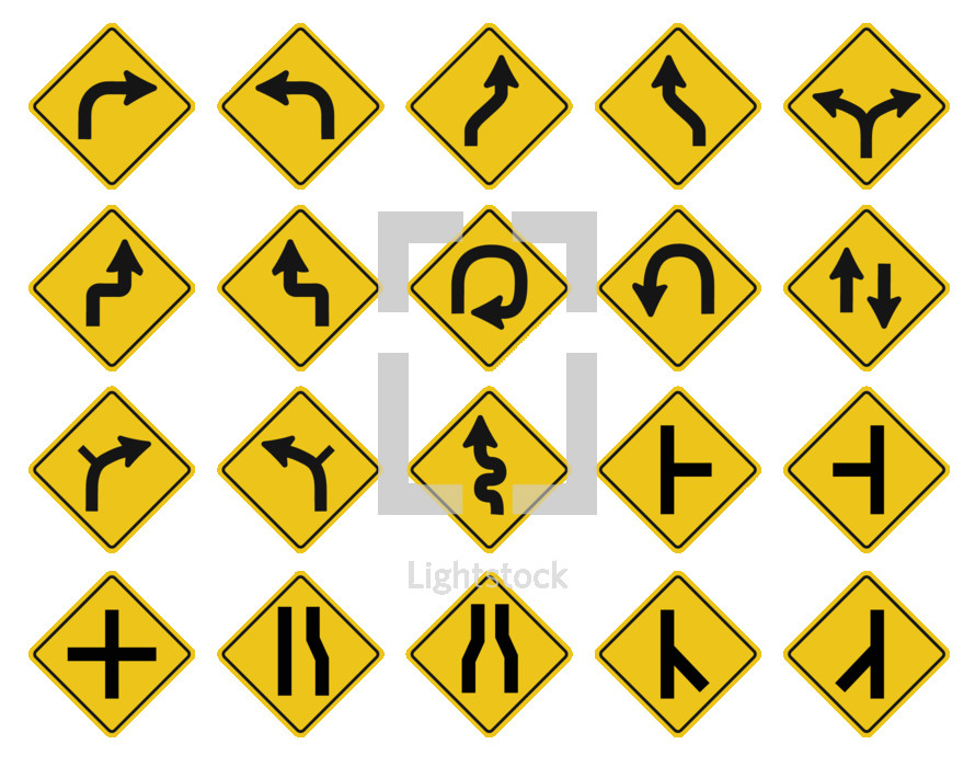 multiple street signs