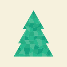 green poly Christmas tree