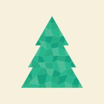 green poly Christmas tree