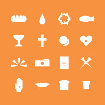 communion icons set.