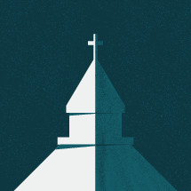 split church illustration concept.