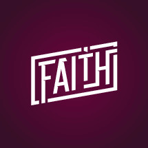 Faith lettering graphic emblem