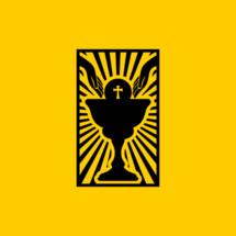Christian symbols. Communion Bread and Chalice.