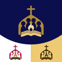 church people with flame logo