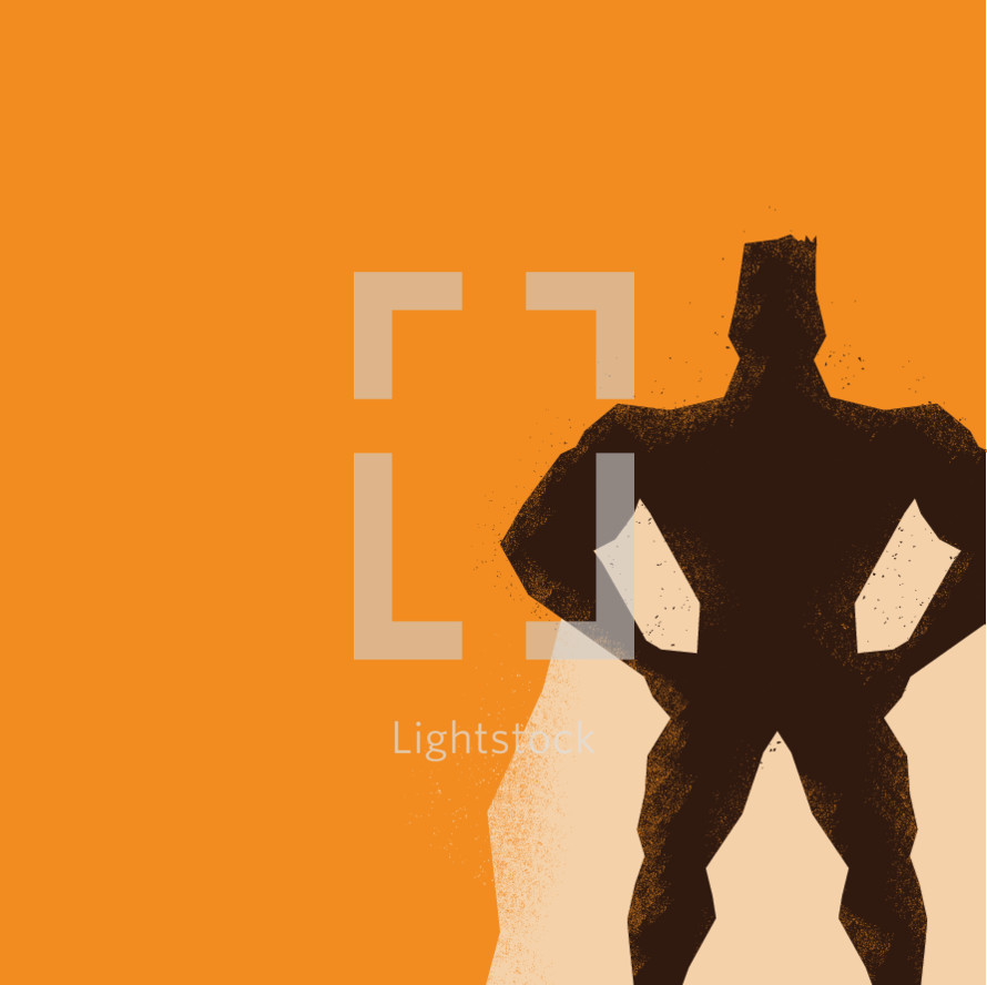 superhero silhouette illustration.