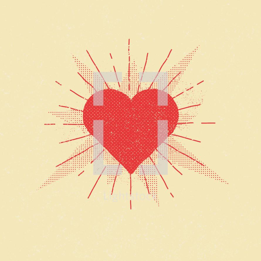radiating heart