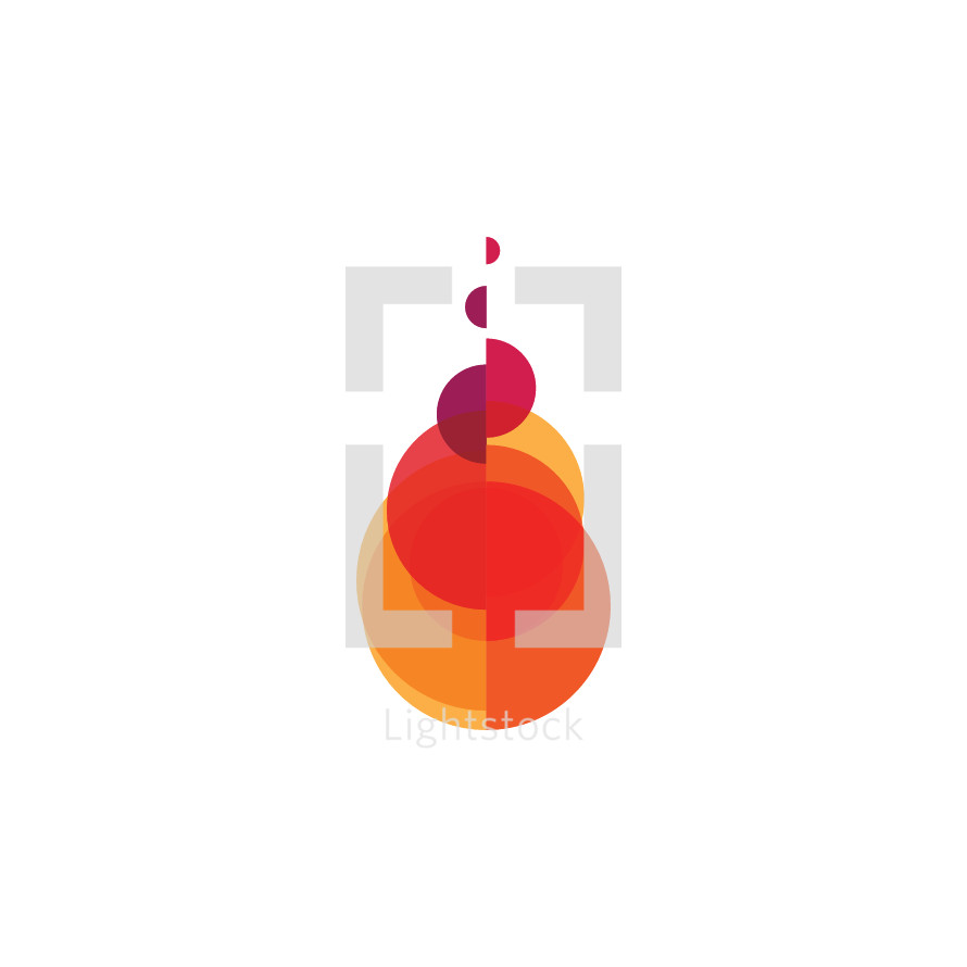 abstract fire icon