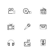 modern media icons.