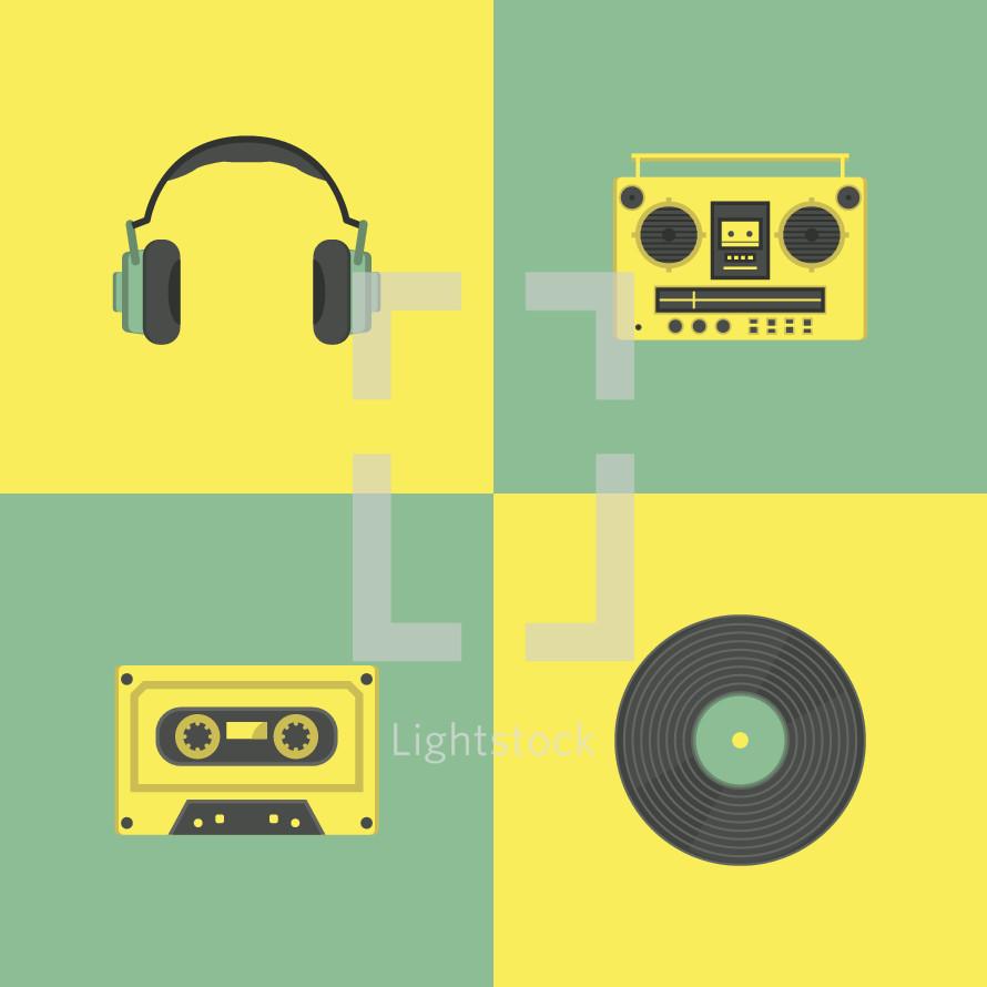 music icons.
