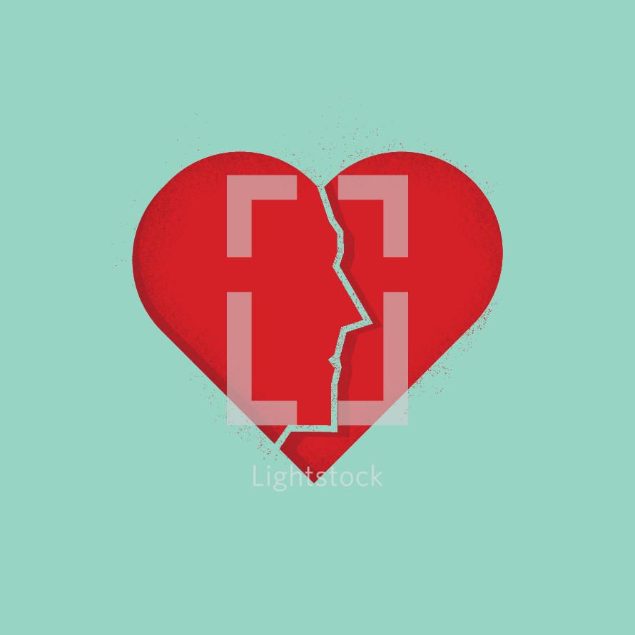 Face In a Broken Heart.