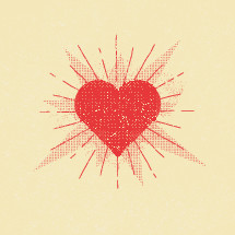 radiating heart
