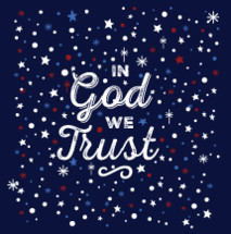 In God WE Trust Typography background