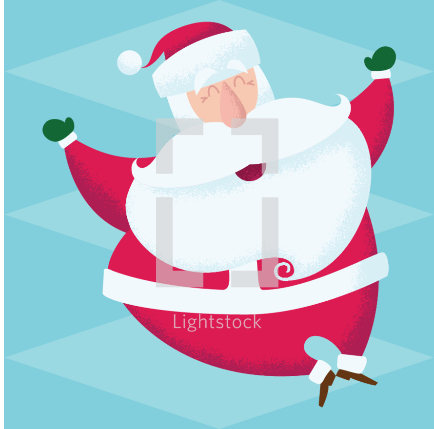 One jolly santa