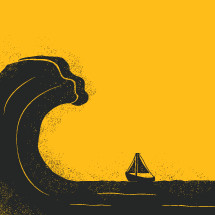 Sailboat and a Wave.