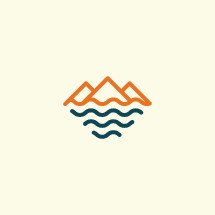 mountains and sea icon