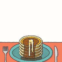 pancakes for breakfast.