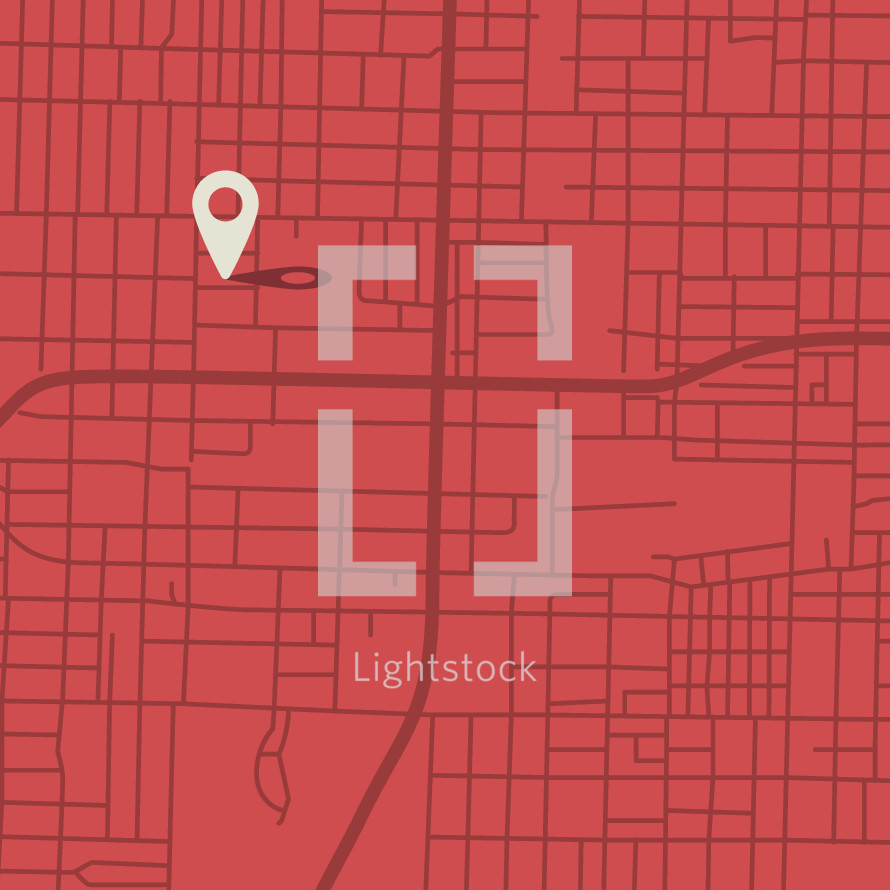 pin point on a city map.