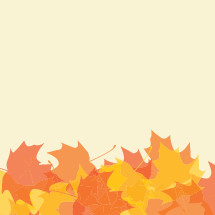 fall leaves border illustration.