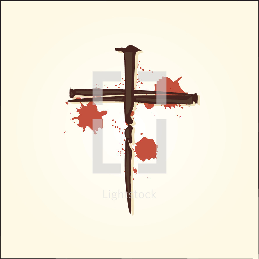 cross of nails and blood