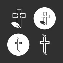 Designed cross elements.