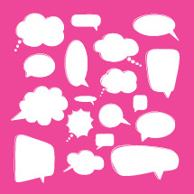 Vector conversation bubbles pack.