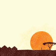 African scene illustration.
