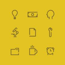 work icons.