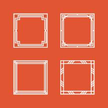 square borders frames