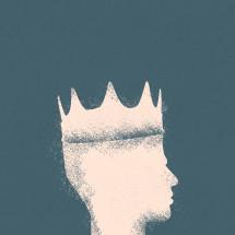 king silhouette illustration.